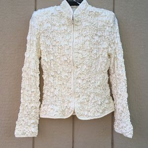 Metaphor zip blouse pearl colored size small